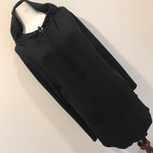 Charlotte Russe Black Sweater Shirt Dress